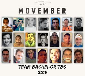 Tableau des étudiants du Bachelor, mobilisés pour Movember.
